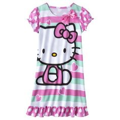 Hello Kitty Girls' Short-Sleeve Sleep Gown Size Large, Target.com