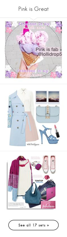 """Pink is Great"" by lollidrop5 ❤ liked on Polyvore featuring arte, unicornstuff, moda, Eastex, Alexander McQueen, VIVETTA, Valentino, Yves Saint Laurent, MAC Cosmetics e Pink"