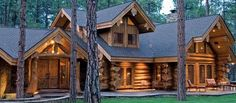 Cabin made from concrete logs. What are your opinions on concrete log cabin builds? [686 X 300] - Modern and Vintage Cabin Decorating Ideas, Small Cabin Designs, Cabins Interior and Decor Inspiration