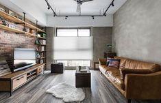 桃園 30 坪懷舊 Loft 風公寓 - DECOmyplace Loft Interior Design, Loft Design, House Design, Living Room Designs, Living Spaces, Industrial Home Design, Small Loft, Loft Interiors, Modern Loft