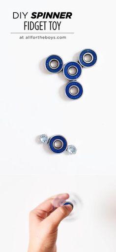 DIY Spinner fidget toy!