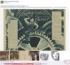 Facebook y bibliotecas: aniversario muerte de Charles Chaplin