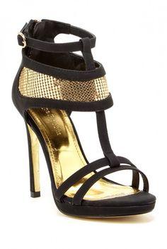 Cape Robbins Rayna T-Strap Heel Sandal