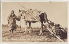 Assiniboine mother and child - circa 1900