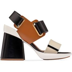 Marni Sandals (105.870 HUF) ❤ liked on Polyvore featuring shoes, sandals, marni, marni shoes, sling back shoes, marni sandals and chunky-heel sandals