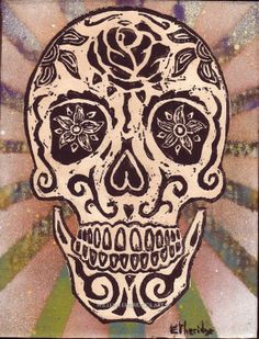 SUGAR SKULL, Day of the Dead Skull, La Muerta