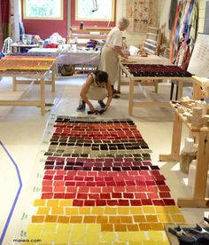 The tables in Janes weaving studio are covered with the mordanted samples.      We are sharing some of the highlights of our Natural Dye ...