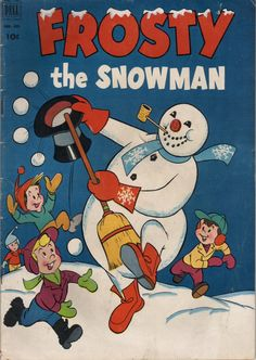 Comic Book Cover For Frosty The Snowman