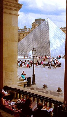 Louvre, sitting at the Café Marly by maralina!, via Flickr