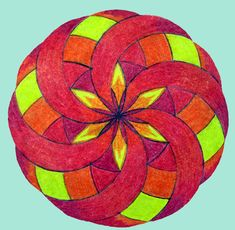 Age 12 ~ Geometric Drawing ~ 12 Division Circle ~ main lesson book ~ site has some pre-algebra projects