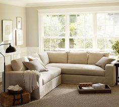 Solano Slipcovered 2-Piece L-Shaped Sectional | Pottery Barn