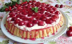 Cherry tart with vanilla cream Cherry Tart, Vanilla Cream, Summer Recipes, Delicious Food, Countries, Breakfast Recipes, Cheesecake, Good Food, Easy Meals