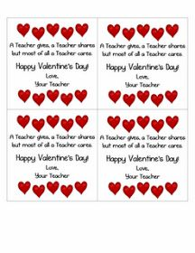 Classroom Freebies: Valentine's Day Card From the Teacher
