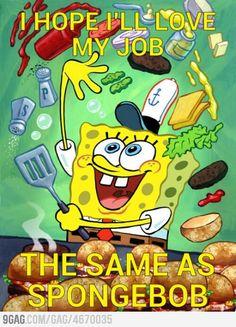 Think positive like Spongebob!
