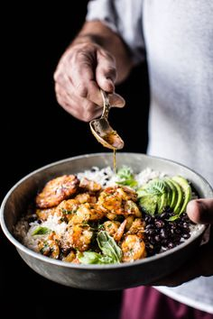 Yummy In My Tumbly | Brazilian Inspired Honey Garlic Butter Shrimp In...