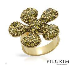 NEW PILGRIM SKANDERBORG, DENMARK Crystal Ring Size 7 FREE SHIPPING $31.00