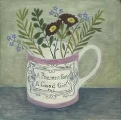 Debbie George 'Present for a good girl and garden flowers' www.debbiegeorge.co.uk