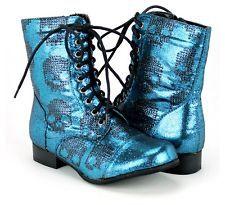 NIB Iron Fist Ladies Womens Size 6 Ruff Rider Sequin Skull Combat Boots  Shoes f62110b74a