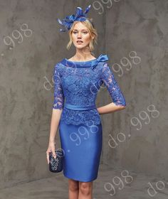 Open Back Blue Mother Of The Bride Lace Outfit Guest Women Formal Dress Evening in Clothes, Shoes & Accessories, Wedding & Formal Occasion, Mother of the Bride | eBay!