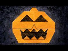 Origami Jack-o'-Lantern (Jun Maekawa) - YouTube Halloween Goodies, Fall Halloween, Origami Pumpkin, Fall Crafts, Crafts For Kids, Youtube Halloween, Lantern Designs, Origami Tutorial