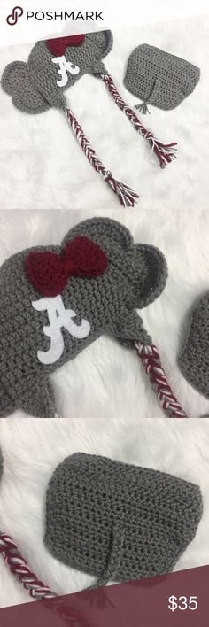 Baby Alabama Crimson Tide Hat and Diaper Cover Perfect for a newborn photo shoot!! That's actually what we used it for! Only worn for minutes. Open to offers. No trades. Matching Sets