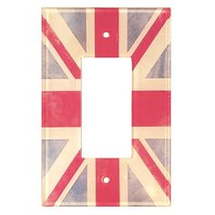 HomePlates Artitude Vintage Union Jack Decorative Light Switch Cover - Single Rocker Switch. Thinkin about ordering this... :)
