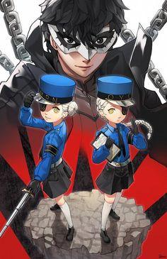 Caroline,Kurusu Akira and Justine~Persona 5