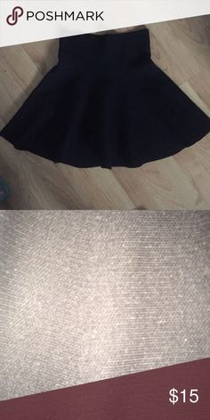 Black High Wasted Circle Skirt Worn once, very thick and good for winter, also very adorable just not my style! Skirts Circle & Skater