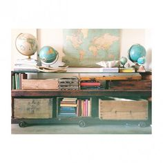 This used to be an railway luggage cart - can you tell? Another beautiful upcycling project by a talented Sydneysider. Pin your image to www.thegoodhood.com.au before September 25 to win a $1350 gift voucher to Megan Morton's The School.