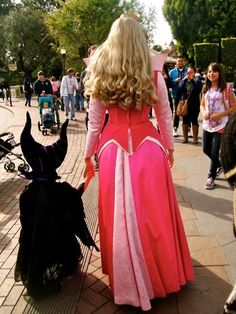 Mommy Aurora and Baby Maleficent - How freaking adorable!