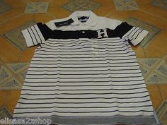 Men's Tommy Hilfiger Polo shirt Large slim fit 7827262 logo classic white knit