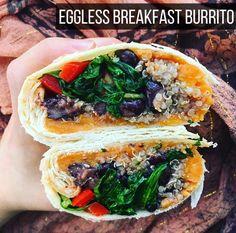 Eggless Breakfast Burrito | The Friendly Fig