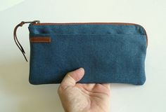 Items similar to Monogrammed passport wallet - blue waxed canvas travel wallet - card holder - gift for him - gift for her - travel accessories on Etsy Blue And Copper, Waxed Canvas, Travel Accessories, Card Wallet, Passport, Gifts For Him, Cotton Fabric, Metallic, Card Holder