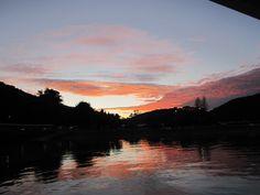 Sunrise at Matiatia Waiheke Island, Beautiful Beaches, New Zealand, Sunrise, Scenery, River, Explore, Mountains, World