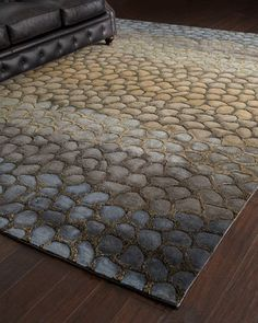 """Jaded Pebbles"" Rug at Horchow. Jaded Pebbles Rug, 5' x 8'  Price:	$799.00  Take 25% Off  HCF13_H4XU7"