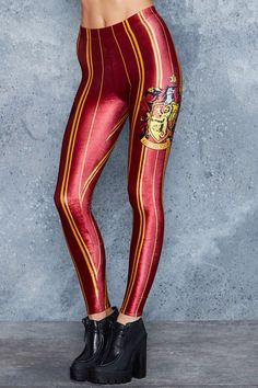 Gryffindor High Waisted Velvet Leggings - Leggings - Bottom - Shop
