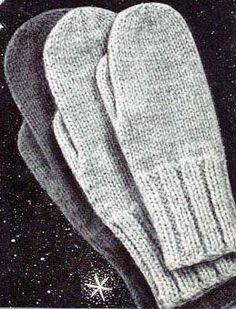 Classic Mittens Pattern | Knitting Patterns - warning, though - the site this pattern is on loves pop-up windows. ugh.