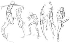 "Here be a number of sketches I've done for my Animation class.  They're generally ""verb drawings"" where we draw a number of poses illustrati..."