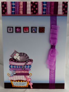 £2.50 A5 card with ribbon detail and hand made envelope. inside message is Especially for you