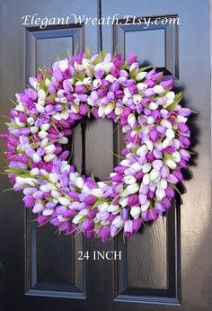 Custom Spring Wreath Spring Decor Mother's Day by ElegantWreath