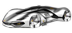 Car design sketches #6 on Behance