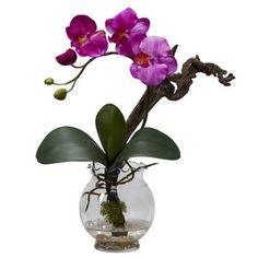 Faux Purple Phalaenopsis Orchid