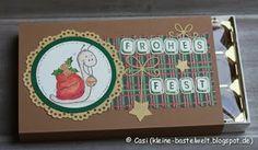Kerstin's kleine Bastelwelt: Weihnachtsmarkt-Countdown: Toffifee-Boxen, Schnecke, Lelo Design