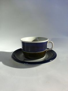 Vintage Rorstrand Sweden Japonica Coffee Cup and Saucer Scandinavian Design