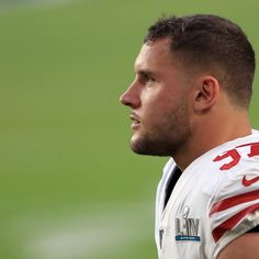 With seven minutes and 13 seconds left to play Sunday, Nick Bosa was on his way to a Super Bowl ring and an MVP award. About six minutes and 21 unanswered Chiefs points later, Bosa broke down in tears on the sideline. 49ers Players, Rugby Players, Emmanuel Sanders, Deandre Hopkins, Cry Now, Deshaun Watson, Beautiful Men Faces, Championship Game, Big Sean