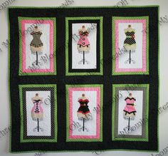 Ooh La La Dress Form Quilt Pattern
