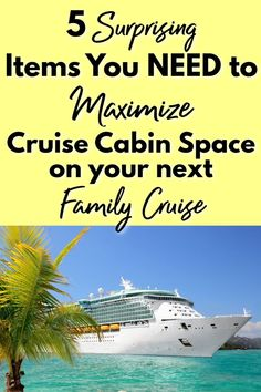 Family cruises are amazing, but they can get cramped if you're not prepared! These 5 items are surprisingly simple, but can save you LOTS of space, trouble, and frustration with your family on your next cruise! Best Cruise, Cruise Port, Cruise Vacation, Vacation Trips, Packing List For Cruise, Cruise Tips, Best Places To Vacation, Alaskan Cruise, Cruise Destinations