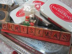 Scrabble Tile Christmas Word ~ The Paper Collage store