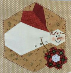 patchwork hexagon angel | https://www.pinterest.com/mariainestf/patchwork/