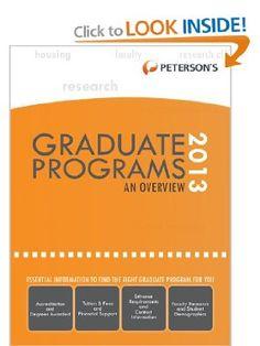 Graduate & Professional Programs: An Overview 2013 (Petersons Graduate & Professional Programs : An Overview): Petersons: 9780768936209: Amazon.com: Books